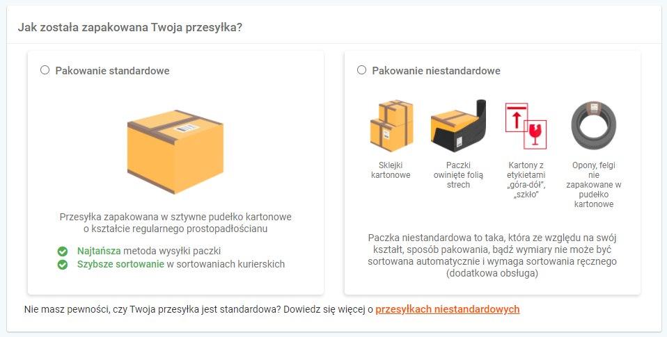 DHL pakowanie przesyłki dla kuriera