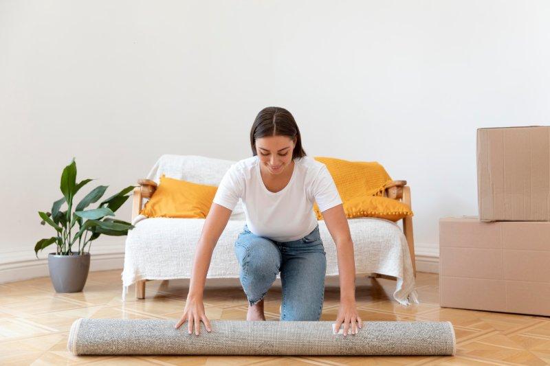 wysyłanie przesyłki z dywanem